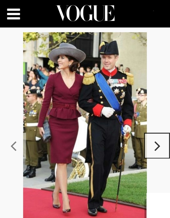 Crown Princess Mary with Naledi Copenhagen ostrich clutch featured in Vogue Australia July 2016 issue